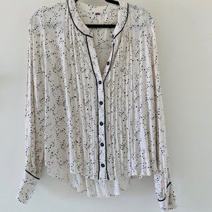 NWOT Free People constellation button down blouse